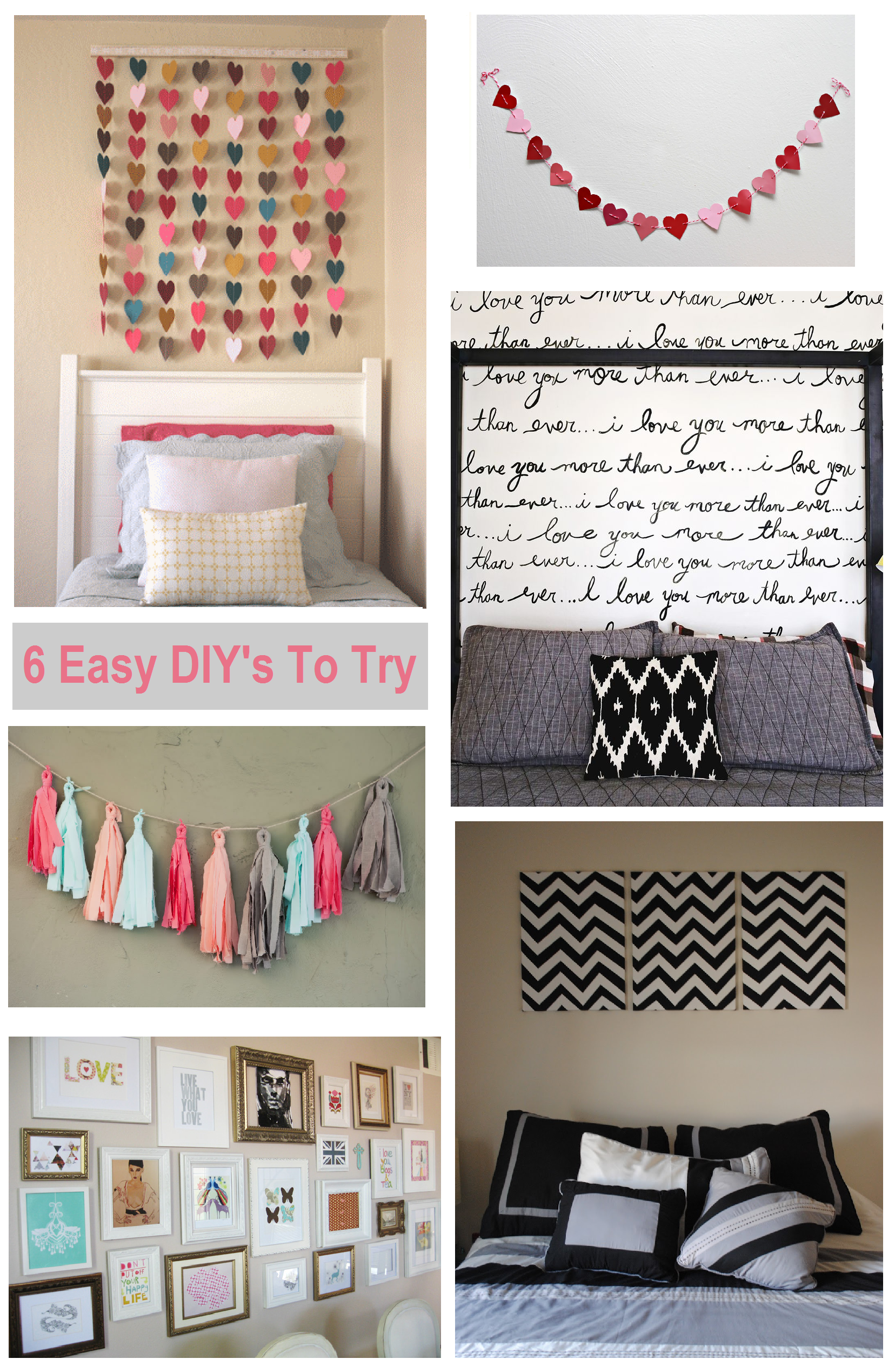 6 diy bedroom wall art ideas shopgirl - Bedroom decorations diy ...