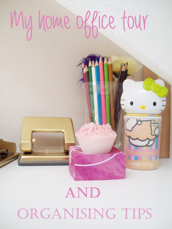 Home Office Pink and Gold with Hello Kitty