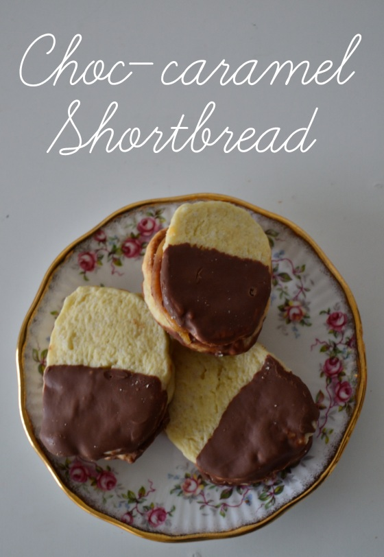 chocolate caramel shortbread biscuits