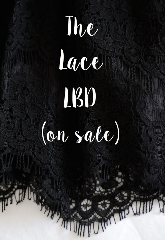 Scalloped Lace Black Dress from Woolworths